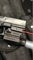 лазерный светодиодный пистолет оптовых-Новый лазерный прицел Red Dot + 200 люмен светодиодный фонарик GLK, SW, SIG, XD, BERETTA