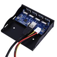ingrosso pannello frontale floppy-Adattatore connettore di alimentazione SATA per espansione del pannello anteriore USB Floppy Bay a 4 porte USB 3.0