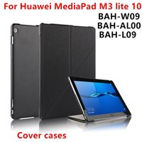"Wholesale Huawei Tablet Casing - Case For Huawei Mediapad m3 lite 10 BAH-L09 AL00 bah-w09 10.1"" Tablet Covers Protective Leather Stand Cases PU Protector Sleeve"