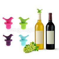 Wholesale protection bar - Silicone bird design wine stopper Safety environmental protection wine bottle stopper bar tools Multicolor Bar accessories tools MMA129