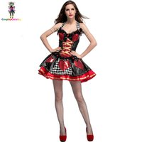 adult fairy costumes Canada - Women Sexy Halloween Queen of Hearts Costume Adult Lattice Printed Fancy  sc 1 st  DHgate.com & Adult Fairy Costumes Canada | Best Selling Adult Fairy Costumes from ...