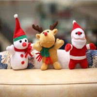 hirsch plüschtiere großhandel-Weihnachten Weihnachtsmann Schneemann Deer Spielzeug Tasche Hang Plüschtier Puppe Festival Party Supplies Hochzeitszeremonie Geschenke 8 5lg gg