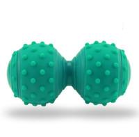 nokta masaj cihazı toptan satış-Yüksek kaliteli nokta masaj fascial top yoga fıstık topları terapi ayak vücut masajı rulo stres giderici ball exercisegym spor ekipmanları