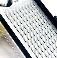 Wholesale human hair individuals eyelashes resale online - 2019 D Russian Volume Eyelashes Extension short Stem Pre made Fans C D curl mm Mink Lash Eyelash Individual Extensions