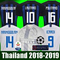 campeones kits de liga al por mayor-INTER MILAN 18 19 Thailand Camiseta de fútbol ICARDI LAUTARO Martinez Inter Milan 2019 Camiseta de fútbol PERISIC NAINGGOLAN POLITANO EDER AMBROSIO 18 19 camiseta de fútbol