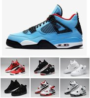 Wholesale games money - Sale new 2018 Best Quality 4 4s White Cement Pure Money men Basketball Shoes Bred Royalty Game Royal Sports Sneakers With Shoes Box