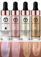 Wholesale cream liquid concealer resale online - Best seller Highlighter Makeup Highlighter Cream Concealer Shimmer Face Glow Ultra concentrated Illuminating Bronzer Drops Face Highlighter
