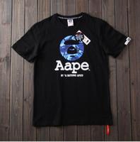 ingrosso camicie per donne-2018 Camouflage estivo T-shirt per adolescenti AAPE designer t shirt ape Lettera stampa paio modelli top Tshirt T-shirt donna casual T-shirt