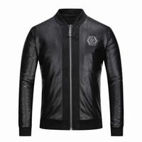 ünlü markalı ceket toptan satış-2018 yüksek kalite İtalyan ünlü marka erkek taklit kürk büyük giysi moda pilot taslak ithal pp süet ceket erkek ince gömlek M-3XL