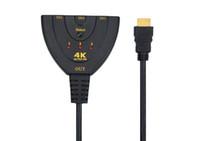 ports hd complet commutateur hdmi achat en gros de-4K * 2K 1080p Full HD 3 ports IN 1 OUT HDMI Switch Switch Switcher Hub avec télécommande Splitter Box pour Apple HDTV PS4 DVD