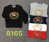 ingrosso vestiti di marca bebe-Felpe per bebè e neonate Abiti di marca 2 Abbigliamento per bambini Set Abbigliamento a maniche lunghe per bambini