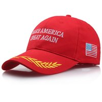 sombrillas de sol al por mayor-Donald Trump Hat Make American Great Again Gorra de béisbol Anti Wear Fashion Sun Shading Bordado Impresión Snapbacks 6 5ly jj