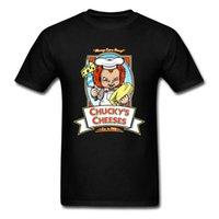 los mejores quesos al por mayor-Chucky's Cheeses T Shirt Hombres Camisetas Tops de verano Crazy Baby Tshirt Ropa de dibujos animados Estilo suelto Hip Hop Camiseta 1988
