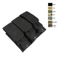 Wholesale Pistol Clips - Mag Holder Cartridge Clip Pouch AR M4 5.56 .223 Pistol Handgun Tactical MOLLE Triple Magazine Pouch