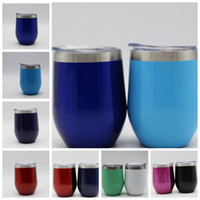 Wholesale Insulated Briefs - 12 color 9OZ egg cup Double Wall Stainless Steel Beer Vacuum Insulated mug drinking coffee mugs Wine Cup KKA5024