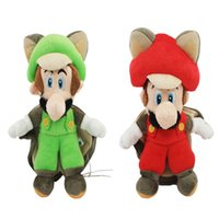 """Wholesale Mario Brothers Stuffed Toys - New Arrival 9.5"""" 25cm Super Mario Brothers Bros Bat Mario And Luigi Plush Doll Stuffed Toy For Child Best Gifts"""