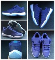 mens low cut sneakers großhandel-2018 Low Blue Moon Männer Frauen 11 XI Basketball Schuhe Herren Sport Turnschuhe 11s Trainer Basket Ball Sportschuh Größe 36-47