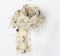 saltos de batom venda por atacado-100 Mulheres% lenço de seda Amor de salto alto batom sapato Hat Bag bowknot Graffita lenço Acessórios xale Moda