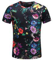 ingrosso comprare t-shirt di cotone-2 colori Hot Buy Uomo T-Shirt New Tiger Snake Farfalla Fiore Stampa Manica corta in cotone T-shirt Estate supera Tees Plus Size M-XXXL 4XL