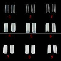dicas acrílico branco branco venda por atacado-Supernova venda 500 pçs / lote Branco Francês Acrílico Unhas Postiças Dicas Manicure Salon Nail Art Tips