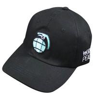 Wholesale baseball cap shape - Unisex Men Women Hip-Hop Baseball Cap Curved Snapback Adjustable Peaked Hat, Blue Bomb shape Black