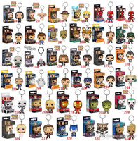 super hero heroes figuras de ação venda por atacado-DHL transporte Funko POP Marvel Super Hero Harley Quinn Deadpool Harry Potter Goku jogo Joker de figuras de ação Thrones Figurines Toy-chaves