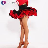 ingrosso abiti da festa latino-MEI YU S8065 Latin Dance Gonna Rumba Cha Cha Costume Da Ballo Donna Lady Adulto Dancewear Evening Party Dress Gonna