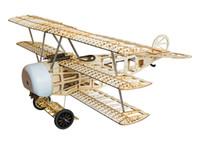 freies elektrisches flugzeug großhandel-Freies Verschiffen Balsawood Flugzeug Modell Laser Cut Electric Power Fokker 770mm Spannweite Bausatz Woodiness modell / HOLZ FLUGZEUG