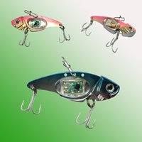 Wholesale walleye lures - LED fishing lures LED Lighted Bait Flasher Saltwater Freshwater Bass Halibut Walleye Lures Attractant Offshore Deep Sea Dropping