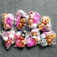 bebek oyuncakları diy toptan satış-8 adet / grup LOL DOLL DIY giyim elbise Şişe Kız lol Doll Bebek Gözlük ile Değişim Action Figure Oyuncaklar Çocuklar Hediye LOL ...