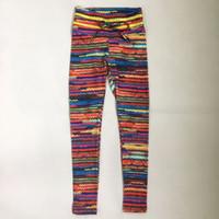 drop ship leggings impressos venda por atacado-Spandex New Mulheres Original Leggings de Malha de Impressão com 2 Amarela Cintura na Cintura e Corda Colorida Cair Frente Frete Grátis