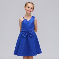baby blumen bilder großhandel-kleine Blumenmädchenkleider für Hochzeiten Baby Party Kleider Kinder Bilder Kleid Kinder Prom Kleider Abendkleider 2019