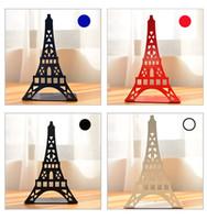 buch steht inhaber großhandel-2 teile / para Mode Eiffelturm Design Bücherregal Große Metall Buchstütze Schreibtisch Halter Stehen für Bücher Organizer Geschenk Schreibwaren