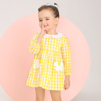 Wholesale Young Ladies Dresses - Girls Dress 100% Cotton Young Lady Skirt for Spring Summer Autumn Full Sleeve Yellow Clothes