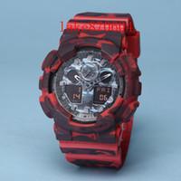 Wholesale military metal box - AAA top luxury GA100 style men's military sports watch LED digital watch waterproof men's watch Relogio Masculino WITH METAL BOX