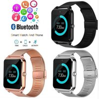 Wholesale gps steel for sale - Group buy Bluetooth Smart Watch Z60 Wireless Smart Watches Stainless Steel For IOS Android Support SIM TF Card Camera Fitness Tracker with Retail Box