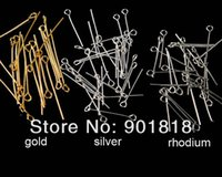 Wholesale pins needles head for sale - Group buy XINYAO Gold Silver Color Eye Head Pins mm Eye Pins Findings for Diy Jewelry Making Jewelry Accessories F117