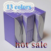 Wholesale fresh tone - Top Quality Freeshipping Real 13 color fresh color 3 Tone blend contact lenses box 100pc =50pair Contact lens case