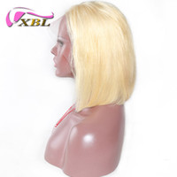 Wholesale blonde short hair wig for sale - Group buy 150 Density Lace Front Human Hair Wigs Blonde Short Bob Straight Lace Wigs Brazilian Remy Human Hair Pre plucked Hairline