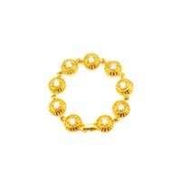 Wholesale 24k Gold Bracelets For Women - 24K Gold Plated Bracelets Classic Accessories Luxury AAA CZ Crystal Brand New Design Fashion Gift For Men Women Fine Jewelry Free Shipping