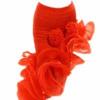 venta vestidos rojos para las niñas al por mayor-niña Falda de baile latino en venta Rojo naranja Leopardo Cha Cha / Rumba / Samba / Tango Vestidos para la práctica de baile Performamnce Dancewear