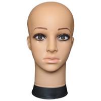 Cabeza de maniquí de mujer Sombrero Exhibición Peluca Torso PVC Cabeza de  entrenamiento Modelo Modelo 2   1c56480bdd3