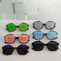 neue sonnenbrille blau großhandel-Frauen cat eye SONNENBRILLE WEIß HAVANA / BLAU SPIEGEL OCCHIALI DA SOLE Sonnenbrille Brille unisex Mit New Box