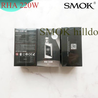 Wholesale vape mod smok alien resale online - 100 Authentic SMOK RHA220 Kits With ml TFV8 Baby Tank RHA w Mod OLED Display Screen Alien Kit Adjustable Airflow Vape System