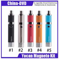 dampf d großhandel-Authentischer Yocan Magneto Wax Vapor Pen Kit 1100mah Wachsstift mit Keramikspule VS Evolve Plus Evolve D Kit