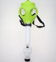 Wholesale Rubber Gas - Gas Mask Bong Tabacco Shisha Acrylic Pipes Smoking Hookah Halloween Party Silicone Rubber Mask Free Shiping Wholesale