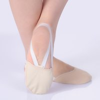 df649c5c6 Indoor dance shoes forefoot pads with bandage belly dance tiptoe shoes soft  breathable Non-slip Half shoes
