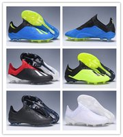 Wholesale mens low ankle shoes for sale - 2018 mens soccer shoes X FG original Low Ankle soccer cleats Speedmesh X18 Messi Speed Mesh Outdoor football boots cheap
