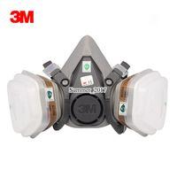 máscaras de pulverização venda por atacado-7 EM 1 terno 6200 Respirador Máscara De Gás Corpo Máscaras Químicas Filtro de Poeira de Pó de Pintura Spray de Máscara De Gás Química Máscara de metade do rosto
