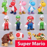 figuras de yoshi al por mayor-13 cm Super Mario Figuras Juguetes Super Mario Bros Bowser Luigi Koopa Yoshi Mario Hacedor Odyssey PVC Figura de Acción Modelo Muñecas de juguete